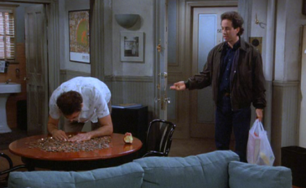 That's two allusions to Seinfeld so far. I think I'll go for the hat trick.